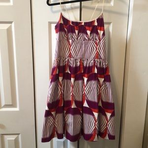 Boutique orange and purple dress